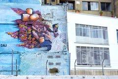 街道画在卡利,哥伦比亚 库存照片