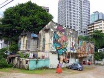 街道画在吉隆坡马来西亚 免版税图库摄影