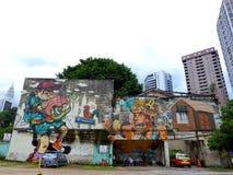 街道画在吉隆坡马来西亚 库存图片
