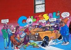 街道画在城市纽约 库存图片