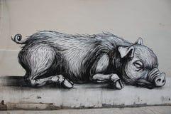 街道画在布鲁塞尔 库存图片