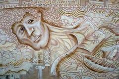 街道画在希腊 免版税库存图片