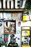 街道画在柏林弗里德里希斯海因 免版税库存照片