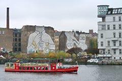 街道画在柏林 库存照片