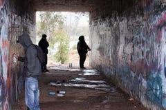 街道画在桥梁下 图库摄影