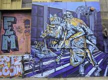 街道画在纽约城 库存照片