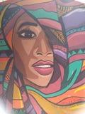 街道画在艺术教育开罗才干墙壁上的街道艺术  库存照片
