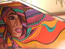 街道画在艺术教育开罗才干墙壁上的街道艺术  免版税图库摄影