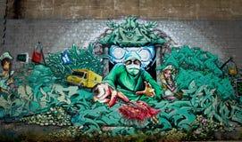 街道画在蒙特利尔 库存图片
