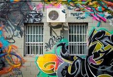 街道画在蒙特利尔 免版税库存照片