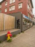 街道画在阿克雷里 免版税库存照片