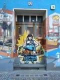 街道画在kreuzburg德国的柏林墙 免版税库存照片