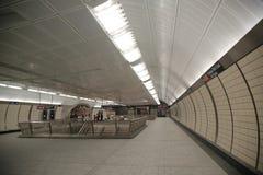 34街道-在NY的哈德森围场地铁站室内设计 免版税库存图片