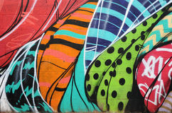 街道画墙壁在菲尼斯亚利桑那 免版税库存图片