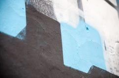 街道画墙壁纹理背景 免版税库存图片