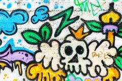 街道画墙壁都市艺术 在城市的墙壁上的抽象创造性的图画时尚颜色 图库摄影