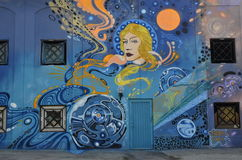 街道画墙壁 免版税库存图片