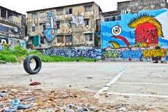 街道画墙壁 图库摄影