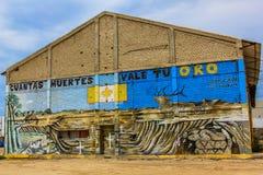 街道画墨西哥人,南下加利福尼亚州 库存图片