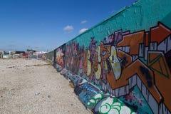 街道画壁画在哥本哈根,丹麦 免版税库存图片
