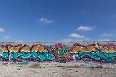 街道画壁画在哥本哈根,丹麦 库存照片