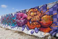 街道画壁画在哥本哈根,丹麦 库存图片