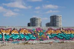 街道画壁画在哥本哈根,丹麦 免版税图库摄影