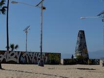 街道画威尼斯海滩LA 库存图片