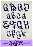 街道画字母表 免版税库存图片