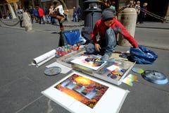 街道画家 免版税图库摄影