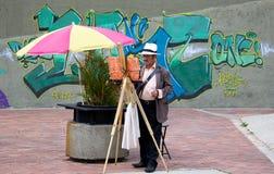 街道画家 图库摄影