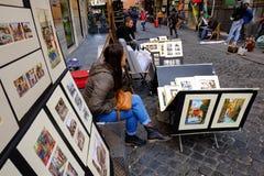 街道画家 库存图片