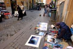 街道画家 免版税库存图片