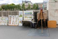 街道画家-巴黎 库存照片