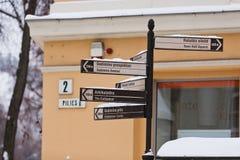 街道索引在维尔纽斯 免版税库存照片