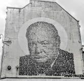街道画温斯顿・丘吉尔 免版税库存照片