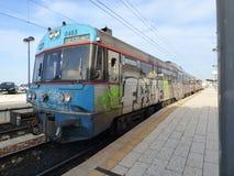 街道画火车 免版税图库摄影
