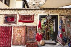 街道购物在安塔利亚,土耳其 库存照片