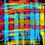 街道画的美好的颜色摘要样式传染媒介例证 免版税库存照片