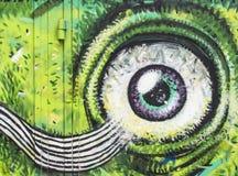 街道画眼睛 向量例证