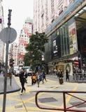 街道建筑学生活和人 库存照片