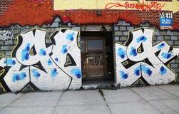 街道画艺术在东部威廉斯堡在布鲁克林 图库摄影