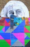 街道画艺术家 库存图片