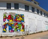 街道画艺术,利昂,法国 免版税库存图片