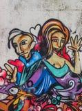 街道画艺术 免版税图库摄影