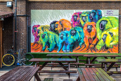 街道画街道艺术在伦敦 库存照片