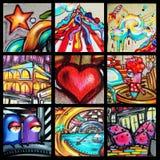 街道画-街道艺术 库存照片
