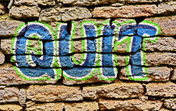 街道画被放弃的艺术设计 免版税库存照片
