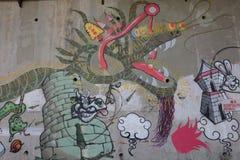 街道画都市艺术要素 向量例证