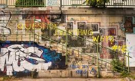 街道画-问题一切 免版税库存图片